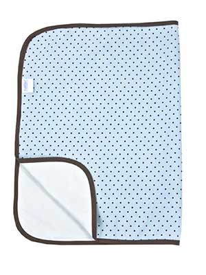 blue travel diaper changing pad for baby