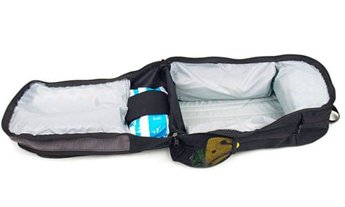 diaper bag completely zipped open