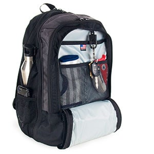 diaper bag for dad with mesh netting pockets
