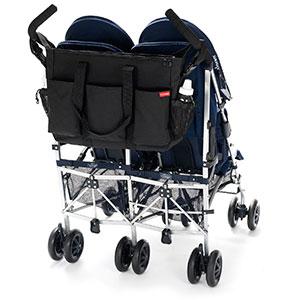 large diaper bag for men on double stroller