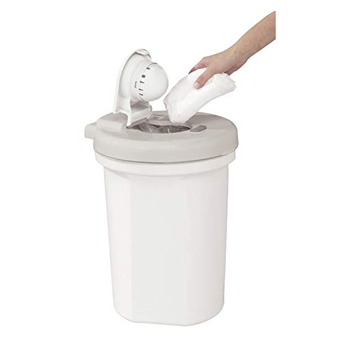 white saver diaper pail