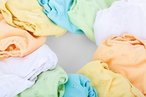 assorted color of baby cloth diaper