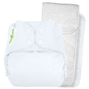 pocket diaper with padded insert