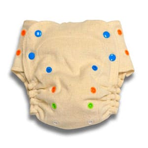 unbleached fitted diaper