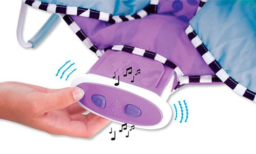 baby bouncer vibrating and musical melody buttons