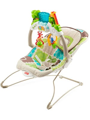 best activity bouncer - Fisher-Price deluxe bouncer: rainforest friends