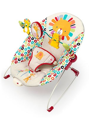 best cheap baby bouncer - bright starts playful pinwheel bouncer