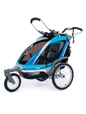 best jogger for professionals expensive category - thule chariot chinook 1 in aqua color