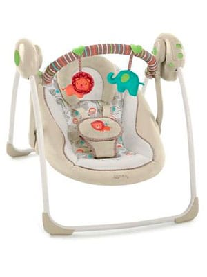 best portable baby swing - comfort and harmony cozy kingdom