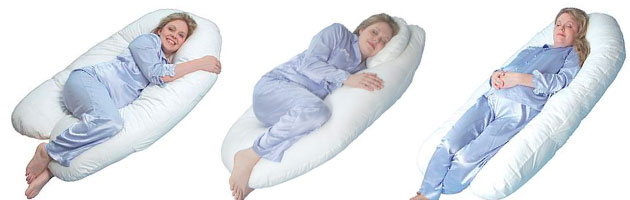 different c shaped pregnancy pillow sleeping positions
