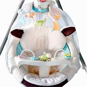 Fisher Price cradle n swing my little lamb baby swing, mobile and play tray