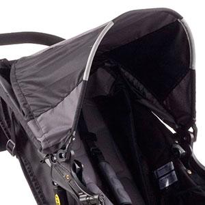 jogging stroller fold down canopy