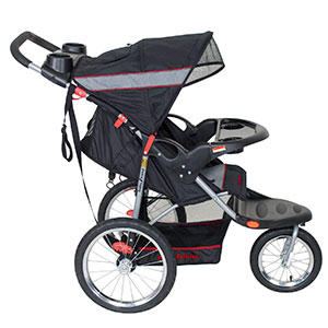 jogging stroller side view - baby trend expedition