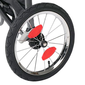 jogging stroller wheel light reflector