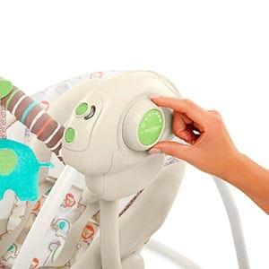 portable baby swing controls - comfort and harmony cozy kingdom