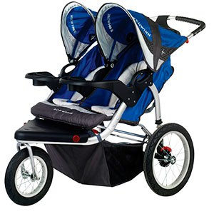 side by side double jogging stroller