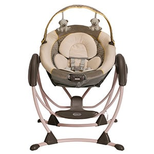 Baby Glider Front View - Graco gliding swing xl