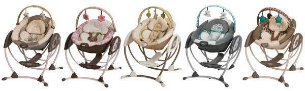different themes and styles of the graco glider lx gliding swing