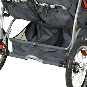 double jogging stroller storage basket