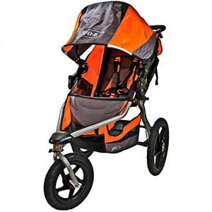 front view of jogging stroller seat and harness - bob revolution se