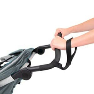 jogging stroller safety strap worn round the wrist