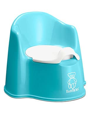 best two piece potty chair - babybjorn turquoise
