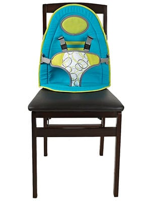 green fabric high chair - baby journey babysitter high chair pad