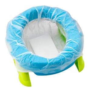 travel potty with disposable plastic bag