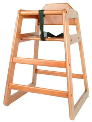 best budget wooden high chair - excellante