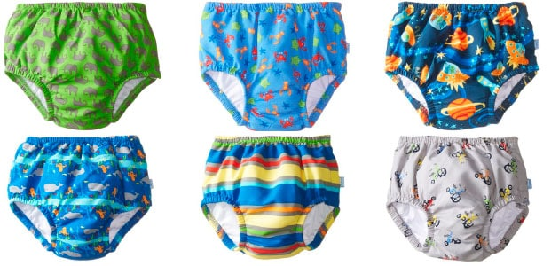 boys swim diapers in different colors and patterns