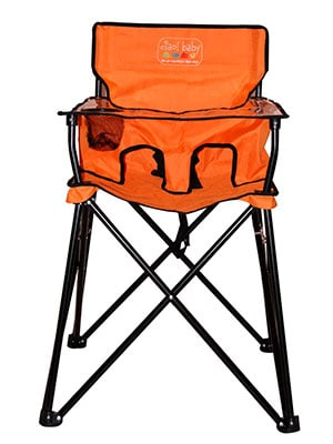 orange travel high chair - ciao baby