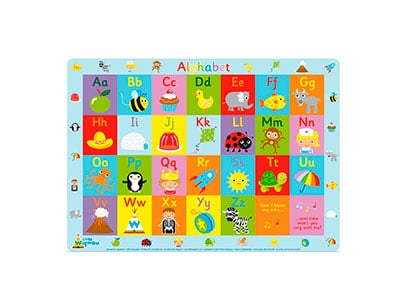 placemat to sit over high chair tray