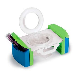 travel potty that uses plastic bags