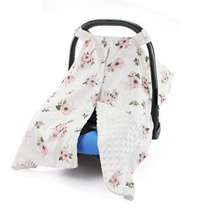 baby car seat cover with floral design