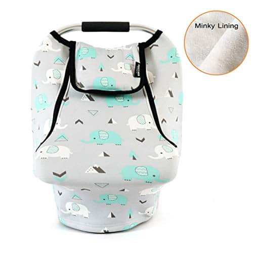 minky lining baby car seat cover