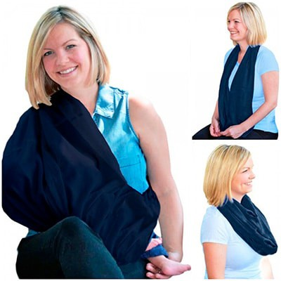 blue Chic Infinity Scarf Nursing Cover