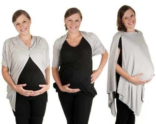 boho mama luxury breast feeding nursing cover in gray
