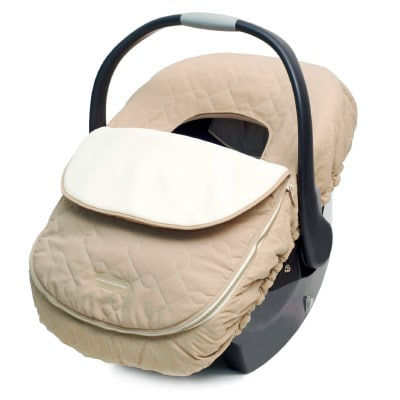 JJ Cole car seat cover in brown