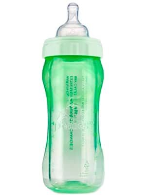 plastic and glass hybrid baby bottle - 5 Phases