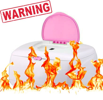 baby wipe warmer on fire