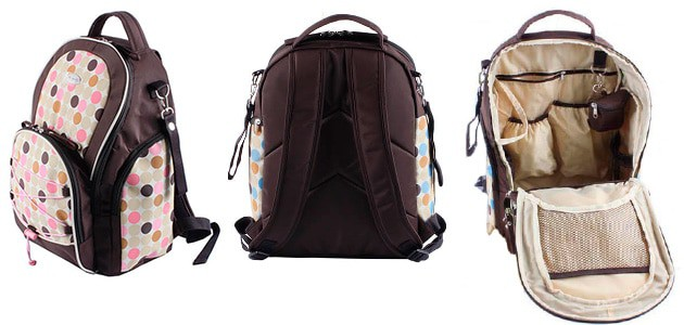 backpack diaper bag inside and out images