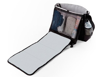 diaper bag with built in changing pad