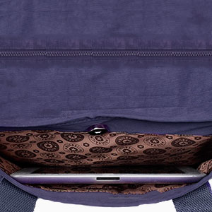 diaper bag with built in phone and tablet pocket