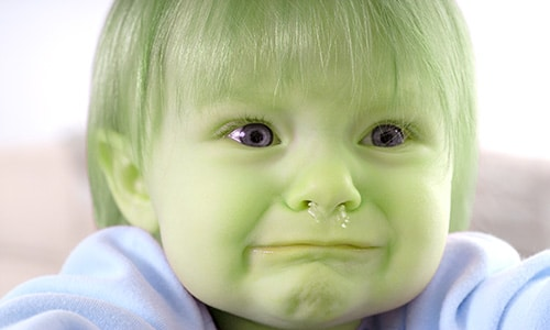 green baby snot monster