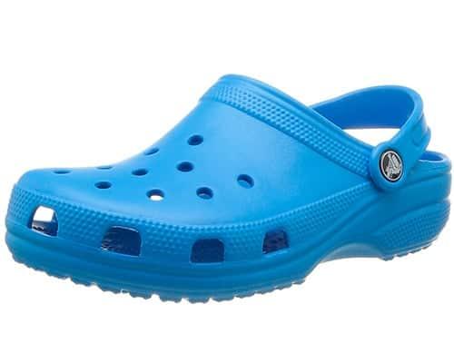 light blue unisex crocs