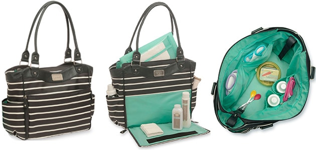 tote diaper bag inside and outside images
