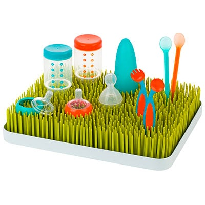 boon counter top green lawn baby bottle drying rack