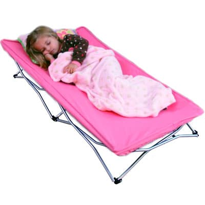 pink regalo my co portable toddler bed