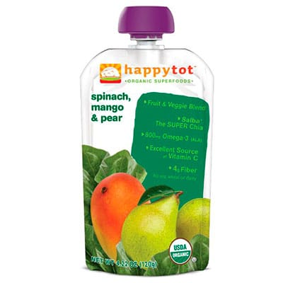 disposable baby food pouch - happy tot organic baby food