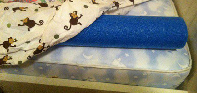 pool noodle toddler bed rail